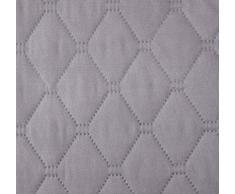 DecoKing 77238 Tagesdecke 220x240 cm Silber Stahl anthrazit Bettüberwurf zweiseitig Steel Silver Steppung Starly