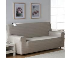 Zebra Textil 32674 Sofahusse elastisch Vega, 3 Sitzer, braun
