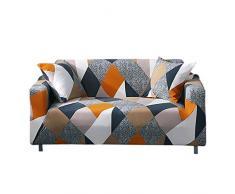 PICTURESQUE Bunter Sofabezug Elastische Sofahusse Sessel Sofa Abdeckung Überzug,D,2 Sitzer