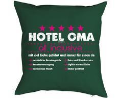 Geburtstagsgeschenk für Oma Kissenbezug Hotel Oma - all inclusive Geschenk für die Oma Polster Sofakissen Couchkissen Weihnachten
