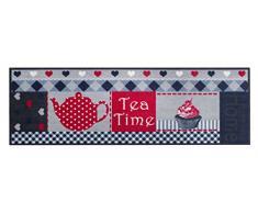 Küchenläufer / Küchenmatte / Dekoläufer für Küche und Bar / Teppich / Läüfer / waschbare Küchenläufer / Küchendeko Modell COOK & WASH Tea Time Cupcake Größe ca. 50 x 150 cm / Maschinen waschbar auf 30 grad