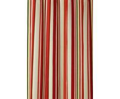 Gardine Natur Schlaufenschal BLICKDICHT bunt gestreift HxB 260x140 cm Kürzbar - 100% Baumwolle - schwere weichfliesende Qualität schöner Fall …auspacken, aufhängen, fertig! Vorhang Typ247