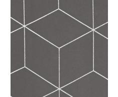 Deconovo Verdunkelungsvorhänge Ösen Vorhang Muster Wohnzimmer Thermogardinen Blickdicht 138x117 cm Hellgrau 2er Set