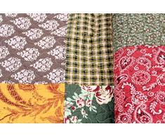 Tagesdecke Hanna 230x250cm Patchwork Barock Karo Plaid Quilt Decke
