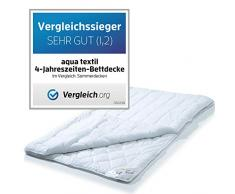 aqua-textil Soft Touch 4 Jahreszeiten Bettdecke 240 x 260 cm Steppdecke atmungsaktiv Decke Winter Sommer