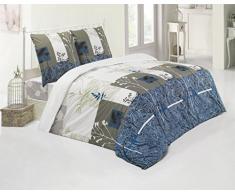 Bettwäsche Bettgarnitur Baumwolle Renforce mit Reißverschluss 5 Größen und vielen Farben Öko-Tex (135x200 cm, Design 1)