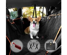 Auto Hundedecke | mit Seitenschutz und Gurtdurchführungen | waschbar wasserfest kratzfest | 140 x 135cm | Kofferraumschutzdecke Rückbank | Autos Van SUV Rundumschutz Schondecke für Hunde
