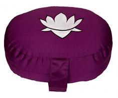 Meditationskissen / Yogakissen Lotus oval, B/T/H 28 x 23 x 13 cm, Bezug und Inlett 100% Baumwolle, Füllung: Buchweizenschalen, Bezug und Inlett maschinenwaschbar bis 30º C, aubergine