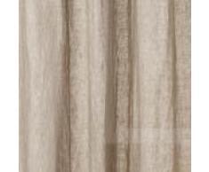URBANARA Vorhang Cuyabeno – 100% reines Leinen, Taupe mit Schlaufen – 140 x 245 cm, einzelner Schal/Gardine/ Leinenvorhang/Leinengardine