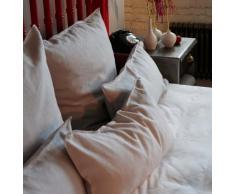 URBANARA Bettwäsche Bellvis - 100% reiner Leinen, Weiß - 1 Bettbezug 155x220 cm + 1 Kissenbezug 80x40 cm, 2-teiliges Set Leinen-Bettwäsche