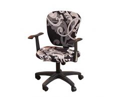 myonly Büro-Computer-Chefsessel-Bezug Schonbezug Schreibtischstuhl-Bezüge Stretch drehbar abnehmbare Stretchbezüge Universal Sesselbezug (ohne Stuhl) C