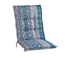Sesselauflage Sitzpolster Gartenstuhlauflage für Mittellehner   50 cm x 110 cm   Petrol   Mandalamotiv   Baumwolle   Polyester