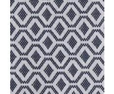 """URBANARA Tagesdecke """"Viana"""" - 100% Reine Baumwolle, Blaugrau/Weiß mit geometrischem Diamantmuster – 240 x 265 cm, Bett-Überwurf, Plaid, Sofadecke, Wohndecke …"""