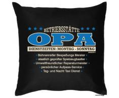 bedrucktes Fun Sofa Kissen: Betriebsstätte Opa - Geschenk Dekokissen Couchkissen Sofakissen Geburtstag Weihnachten Ostern