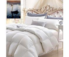 Xyfw Double White Goose Daunenbettdecke/Hypoallergene Premium-Bettdecke Aus Leichtem,Reinem Baumwollgewebe,A,220 * 240CM