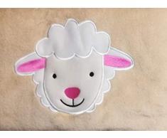 Unbekannt Kinder Reisedecke Kuscheldecke Kissen Verwandlungskissen 2 in 1 Beige Schaf Oeko-Tex