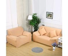 Sofa Überwürfe Sofabezug stretch elastische Sofahusse Sofa Abdeckung in verschiedene Größe und Farbe (4 Sitzer für Sofalänge 230-300cm, Khaki)