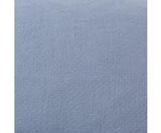 """URBANARA Bettwäsche """"Lousa"""" – 100% reiner Leinen, Helles Blaugrau mit Stickmuster – 1 Bettbezug 135x200 cm + 1 Kissenbezug 80x40 cm, 2-teiliges Set Leinen-Bettwäsche"""