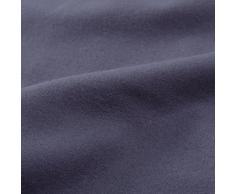 """URBANARA Flanell-Bettwäsche """"Montrose"""" – 100% reine Baumwolle, Grau – 2-teiliges Bettwäsche-Set – 1 Bettbezug 135x200 cm + 1 Kissenbezug 80x40 cm, Flanellbettwäsche, Biber-Bettwäsche, Baumwollbettwäsche"""