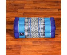 Leewadee Yoga Block Yoga-Klotz Pilates Yogakissen Ökologisches Naturprodukt, 35x15x10 cm, Kapok, blau