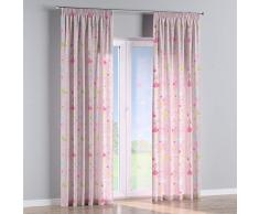 Dekoria Vorhang mit Kräuselband Dekoschal Blickdicht Wohnzimmer Schlafzimmer Kinderzimmer 1 Stck. 130 × 260 cm rosa Maßanfertigung möglich