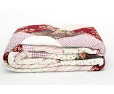 1001 Wohntraum P12-4 new Quilt V 230 x 250 cm Rosa Blumen Plaid Tagesdecke Patchwork Landhaus Shabby Decke