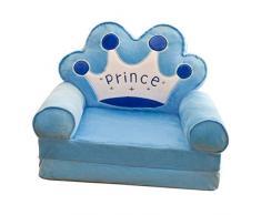 B Blesiya Sofabezug Kindersessel Kindersofa Sofahusse Sesselbezug Sitzbezug Sesselüberwurf - Blau Krone