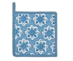 Clayre & Eef MXP45BL Mixed Patterns 1 Topflappen Blau ca. 20 x 20 cm