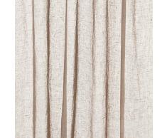 URBANARA Vorhang Cotopaxi – 100% reines Leinen, Vorhangschal mit Schlaufen – einzelner Schal (140 x 245 cm, Taupe)