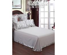 GAOHAIFQ®, vierteilige Anzug,Die neue Auflistung grau Bettwäsche Abdeckung Luxus Bettdecke für Hochzeit Bettwäsche qualifizierte Blatt 4pcs Königin King-Size-Set , queen