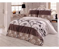 Bettwäsche 200x220 Baumwolle Bettgarnitur mit Reißverschluss 3 teilig L-7940