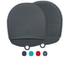 Die ultimativen Silikon Topfhalter / Topflappen - Das einzigartige Design machen sie sicher, rutschfest und flexibel für den höchsten Schutz und Leistung - Hitzebeständig bis zu 260°C (Dunkelgrau)