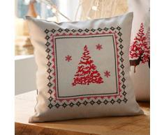 Kissen TANNE Dekokissen Weihnachten 30x30 cm mit Reißverschluss