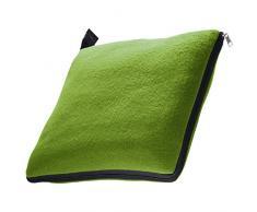 XL Fleecedecke und Kissen in einem, apfelgrün, ca. 180x120 cm