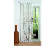 Home Fashion 48480-818 Schlaufenschal Digitaldruck Kolari, 245 x 120 cm, Seidenoptik, beige
