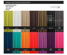 Today 257141Blickdichter Vorhang mit Ösen, Polyester, 140x 260cm, Polyester, Pourpre Foncé/Violet, 140x260 cm
