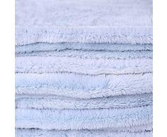 DecoKing 43912 150x200 cm Kuscheldecke Mikrofaserdecke Fleece Felloptik Kunstfell Decke Fleecedecke Wohndecke Microfaser weich sanft flauschig kuschelig hellblau himmelblau blau Baby Blue Fluff