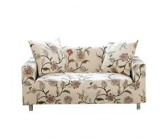 WONGS BEDDING Sofabezug Sofa Überwürfe Elastische Stretch Sofa Abdeckung Sofahusse Sofaüberzug Sofabezug Blumenmuster Couchhusse Antirutsch Weich Stoff für Sofa Couch(2 Sitzer 145-185cm)