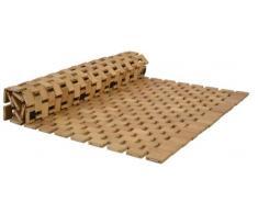 Bambus Badezimmermatte 78,5x50x0,6cm Duschvorleger Holzmatte Vorleger Dusche Bad
