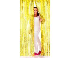 NEU Türvorhang Lametta Folien-Schimmer Gold, 1m x 2m