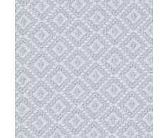 """URBANARA Baumwolldecke """"Mondego"""" – 100% reine Baumwolle, Diamantmuster – Decke, Überwurf, Tagesdecke, Sofadecke, Bettüberwurf, Sofaüberwurf, Plaid, Stola, Kuscheldecke, Fleecedecke (140 x 200 cm, Hellgrau)"""