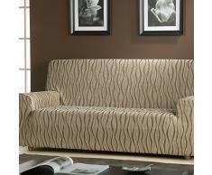 Zebra Textil 18507 sofahusse elastisch Andromeda, 3 sitzer, braun