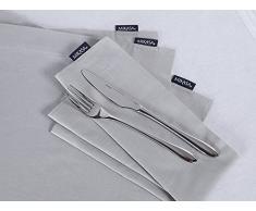 Mikasa Baumwoll-Servietten, Stoffservietten, Grau, 4-teiliges Set