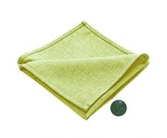 Premium Stoffservietten zart hellgrün in Leinenoptik abwaschbar, Schmutz- und Wasserabweisend, eckig, Farbe wählbar