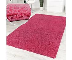 Shaggy Pink Hochflor Langflor Teppich Pink Einfarbig Top Aktion zum Hammer Preis, Grösse:200x280 cm