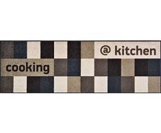 Sehr hochwertiger Küchenläufer Größe ca. 60 x 180 cm / Küchenmatte braun und beige / Dekoläufer für Küche und Bar braun und beige / Teppich Läufer Küche braun und beige / waschbare Küchenläufer braun und beige / Küchendeko