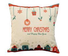 XMAS Kissenbezug Weihnachten Kissenhülle (ohne Kissen) 43*43cm Merry Christmas