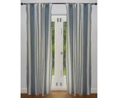 STREIFEN - Hochwertiger - Kräftiger und Moderner - Blickdichter Vorhang - 5 Farben (Blau, 117 x 183cm)