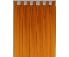 Wirth AustralienSch550-2 Vorhang Australien Schlaufenschal, 175 x 135 cm, Einzelgardine, orange
