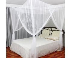 Jeteven Betthimmel Mückenschutz Insektennetz Bettvorhänge für Einzel- Doppelbetten,190 * 210 * 240cm Weiß
